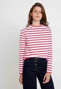 Scotch & Soda - BRETON LONG SLEEVE TEE WITH HIGH NECK - T-shirt à manches longues - red/white - 0