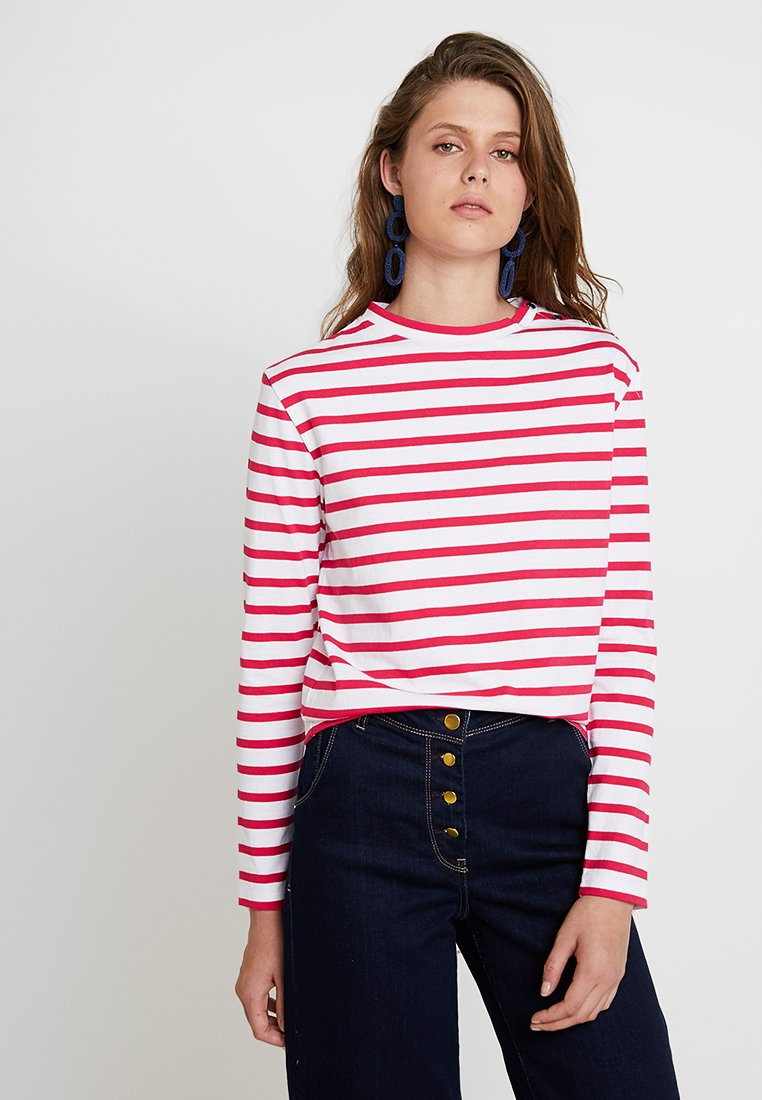 Scotch & Soda - BRETON LONG SLEEVE TEE WITH HIGH NECK - Langarmshirt - red/white