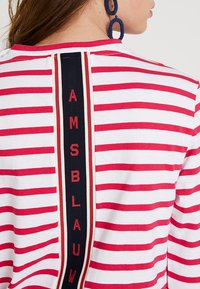 Scotch & Soda - BRETON LONG SLEEVE TEE WITH HIGH NECK - T-shirt à manches longues - red/white - 5