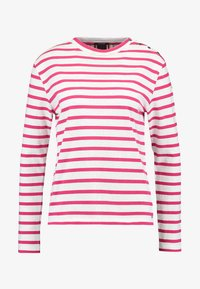 Scotch & Soda - BRETON LONG SLEEVE TEE WITH HIGH NECK - T-shirt à manches longues - red/white - 4