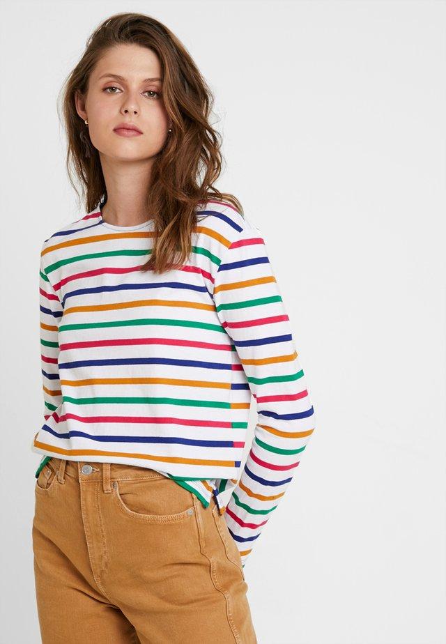 CLASSIC LONG SLEEVE BRETON - Maglietta a manica lunga - white/multi-coloured