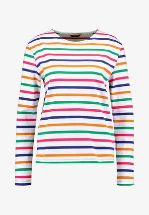 CLASSIC LONG SLEEVE BRETON - Top sdlouhým rukávem - white/multi-coloured