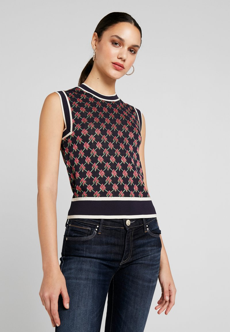 Scotch & Soda - VEST IN GRAPHICAL PATTERN - Strikpullover /Striktrøjer - combo
