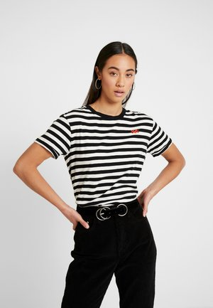 EASY STRIPED TEE WITH CHEST EMBROIDERY - T-shirt imprimé - combo