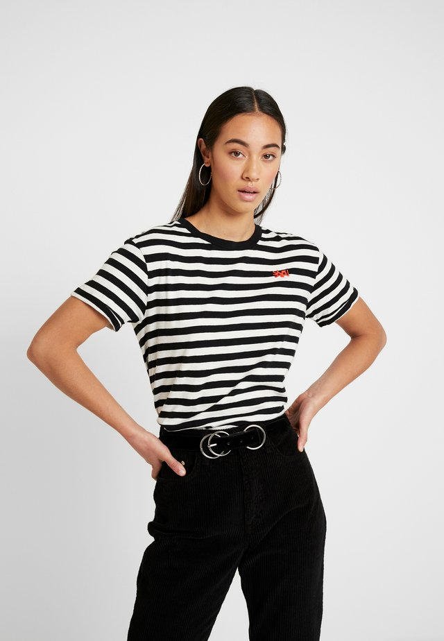 EASY STRIPED TEE WITH CHEST EMBROIDERY - T-shirt con stampa - combo