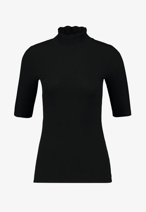 HIGH NECK TEE IN BEAUTIFUL QUALITY - T-shirt con stampa - black