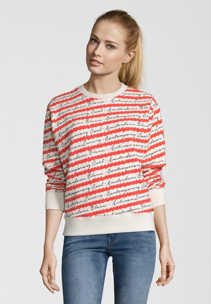 Scotch & Soda - MIT ALLOVER-PRINT - Sweatshirt - Off-white