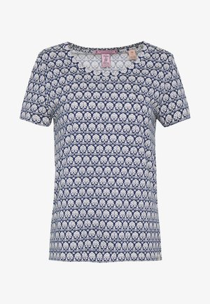 PRINTED BOXY FIT TEE - T-shirts med print - blue/white