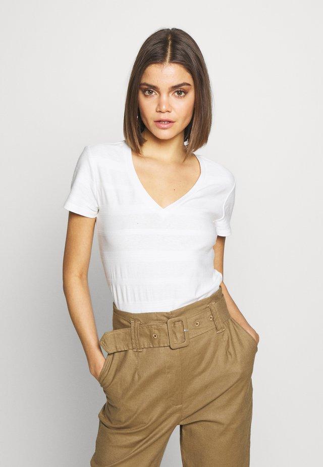 BASIC SHORT SLEEVE TEE - T-Shirt basic - white