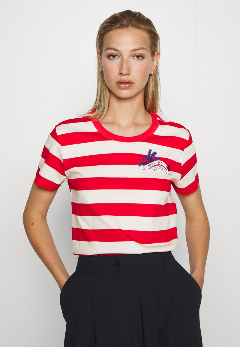Scotch & Soda - KEONI CAPSULE PRINTED REGULAR FIT TEE - Print T-shirt - combo