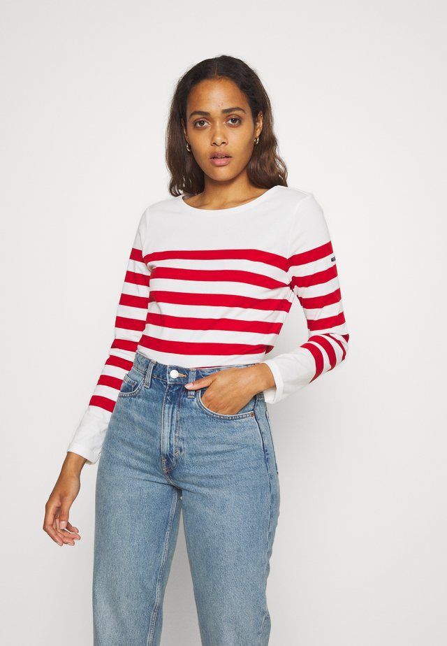 CLASSIC ENGINEERED BRETON - Long sleeved top - white/red
