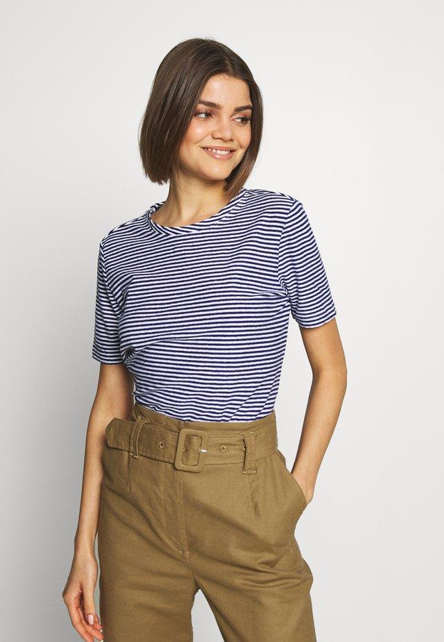 TEE - T-Shirt basic - blue/white