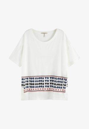 ALOHA TO YOU - Print T-shirt - off white