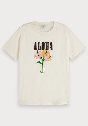 PRINTED ARTWORK - Print T-shirt - ivory