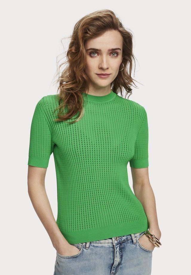 POINTELLE  - T-shirt basic - tikki green