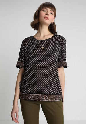 ALLOVER PRINTED LADDER - Blouse - black/multi-coloured