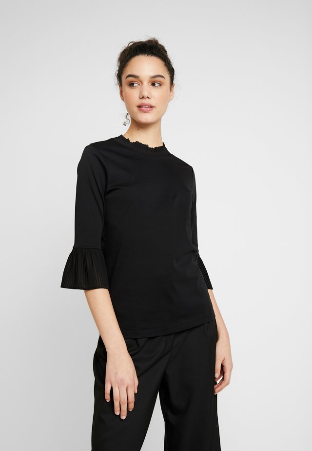 ANDY & PABLO LONG SLEEVE WITH SPECIAL COLLAR - Camicetta - black