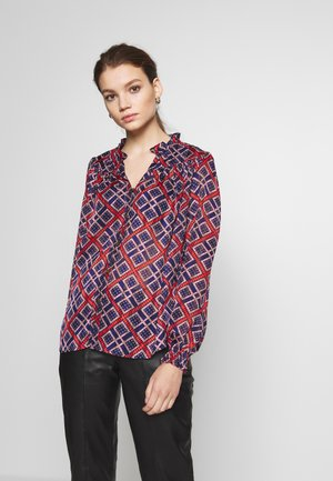 SHEER RUFFLE  - Button-down blouse - combo
