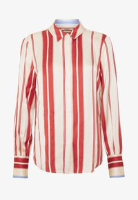 Scotch & Soda - REGULAR FIT CLEAN WITH POPLIN DETAILS - Button-down blouse - off white/red - 3