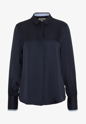 REGULAR FIT CLEAN WITH POPLIN DETAILS - Button-down blouse - night