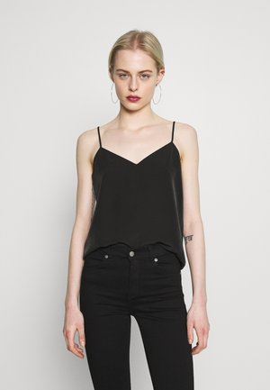 TANK WITH FRONT PANEL - Top - black