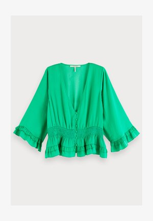 WITH RUFFLES - Blouse - tikki green
