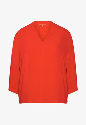 Blouse - flame red