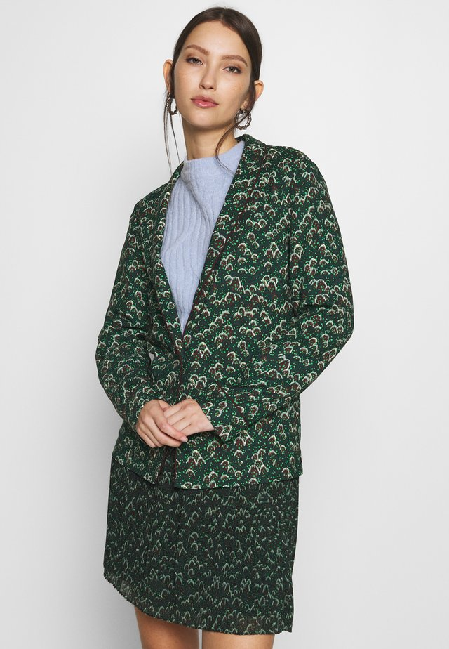 DRAPEY - Blazer - dark green/black