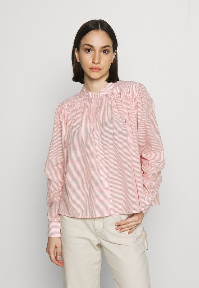 LOOSE LIGHTWEIGHT - Bluse - white/red