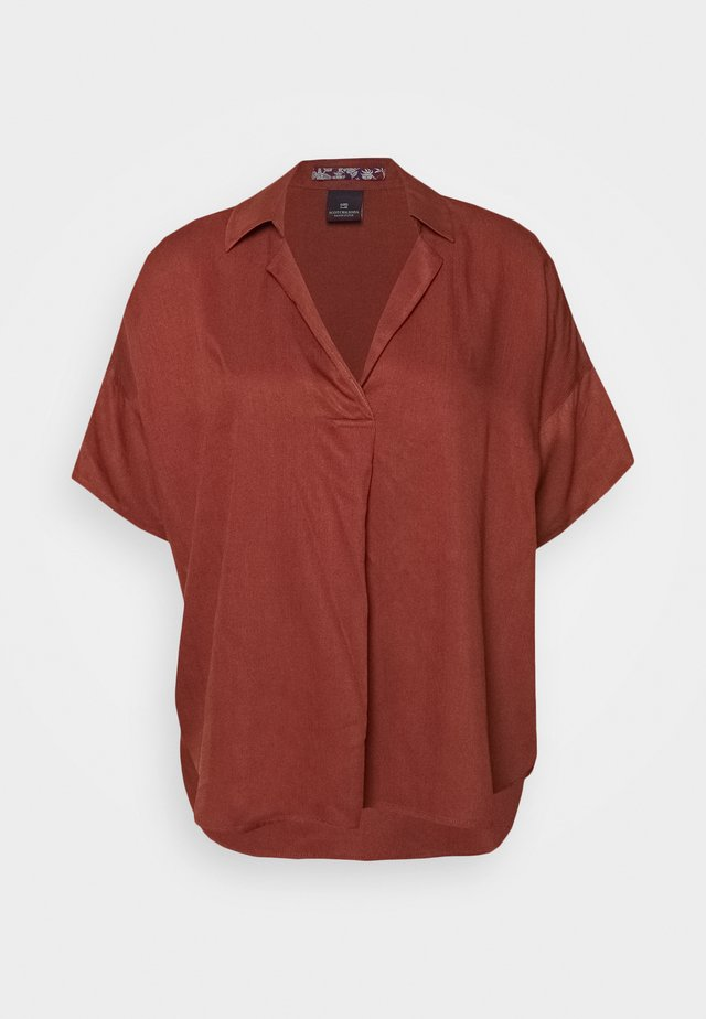 POP OVER SHIRT IN RELAXED FIT - Bluse - island brown