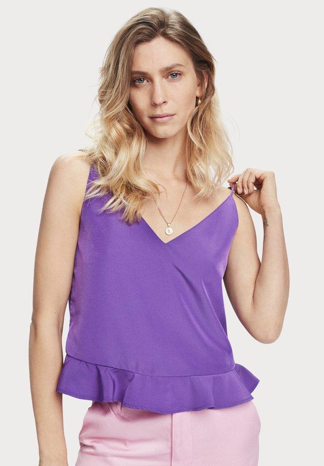 PEPLUM - Top - purple