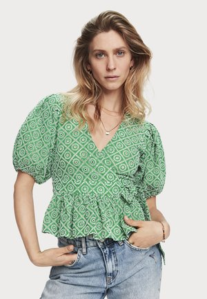 Blouse - tikki green