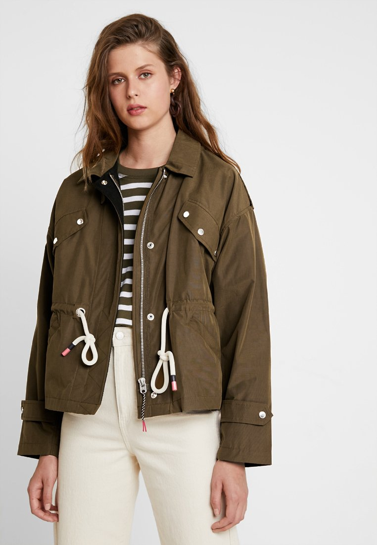 Scotch & Soda - LOOSE FIT JACKET WITH SPECIAL DETAILING - Chaqueta fina - military green