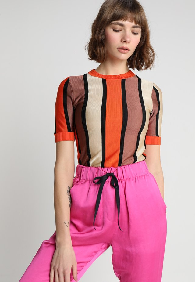 MERCERISED STRIPED SHORT SLEEVE - T-shirt con stampa - combo