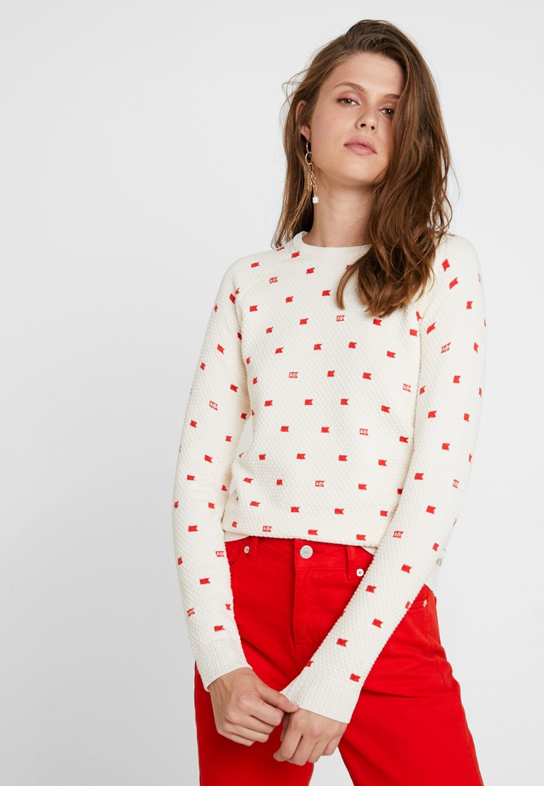 Scotch & Soda - LONG SLEEVE IN VARIOUS ALLOVER PRINT - Jumper - off-white