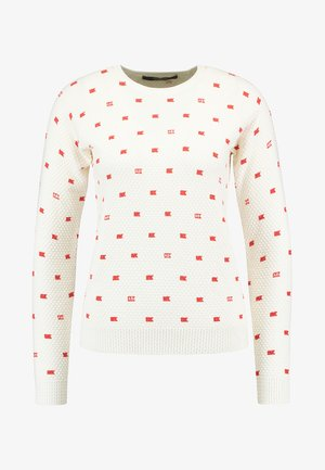 LONG SLEEVE IN VARIOUS ALLOVER PRINT - Maglione - off-white