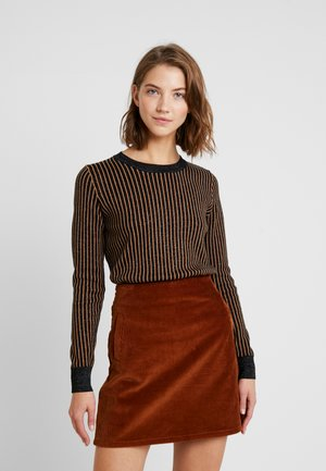 BASIC - Strikpullover /Striktrøjer - brown