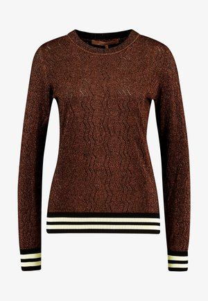 BASIC - Maglione - brown/light brown