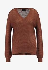 Scotch & Soda - V NECK - Svetr - cedar wood melange - 4