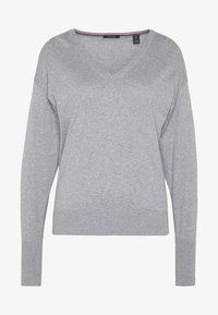 Scotch & Soda - V NECK - Trui - grey melange - 4