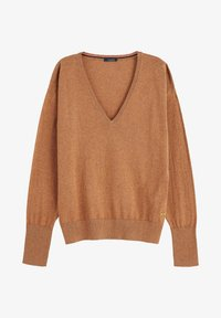 Scotch & Soda - V NECK - Trui - brown melange - 4
