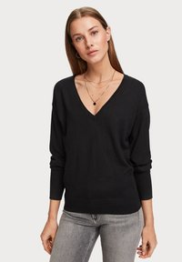 Scotch & Soda - V NECK - Trui - black - 0