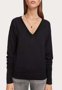 Scotch & Soda - V NECK - Trui - black - 3