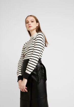 SPECIAL STRIPED WITH SHAPED SLEEVES - Sweter - combo