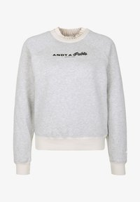 Scotch & Soda - MIT STICKEREI - Sweater - gray - 4