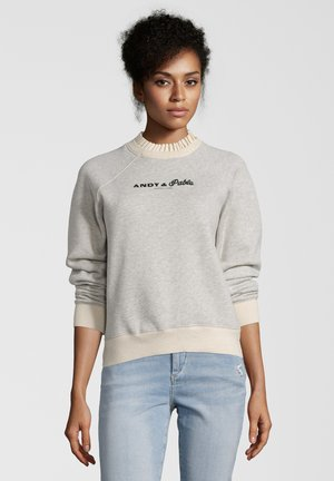 MIT STICKEREI - Sweater - gray