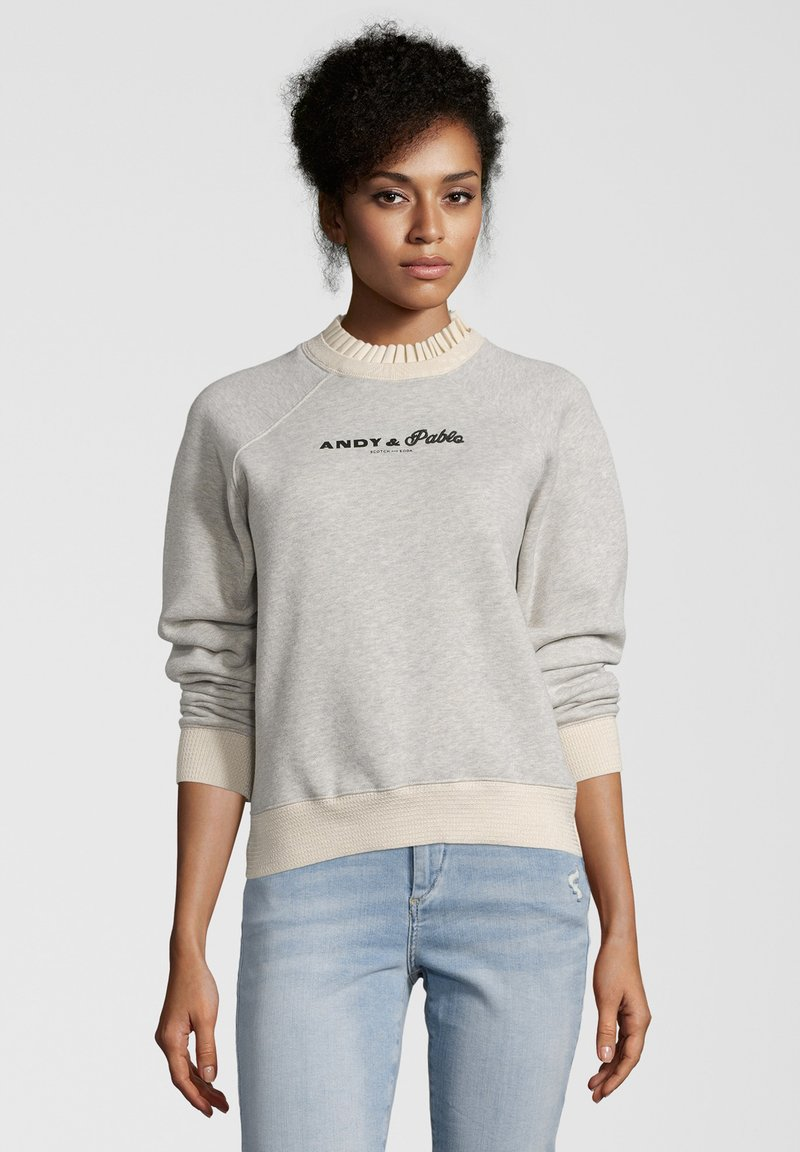Scotch & Soda - MIT STICKEREI - Sweater - gray