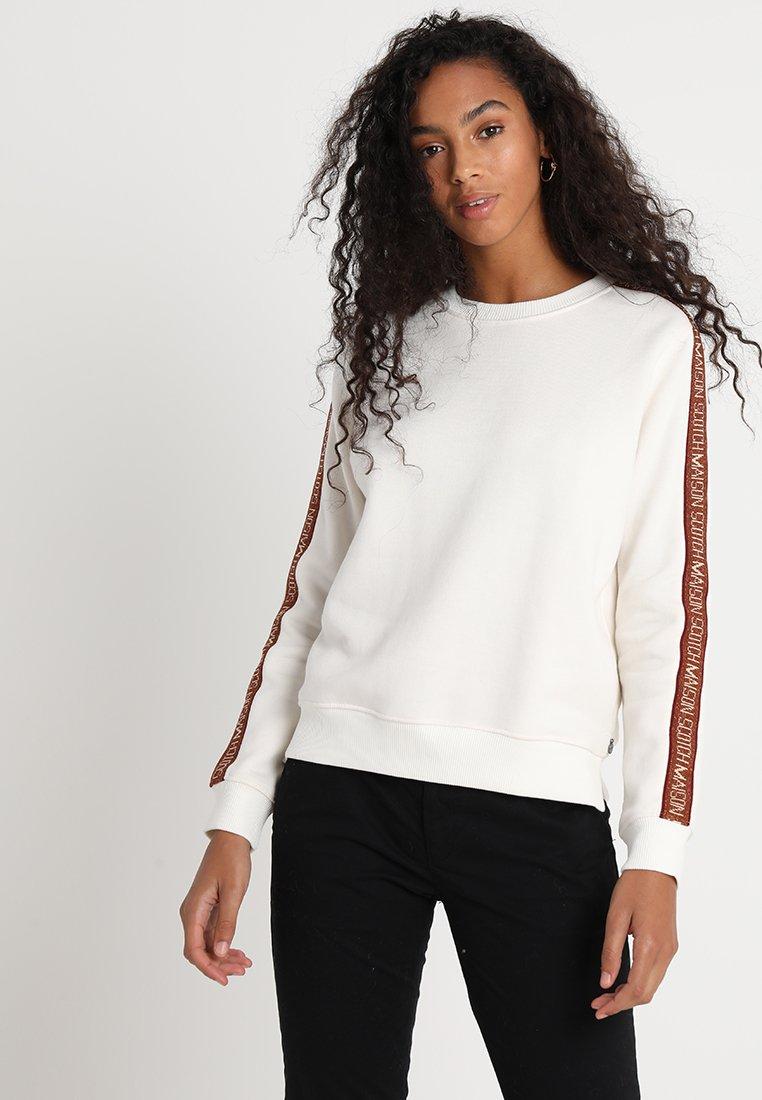 Scotch & Soda - CREW NECK WITH TAPE - Sweatshirt - off white
