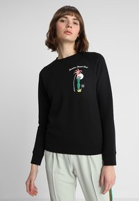 Scotch & Soda - REGULAR FIT WITH PIPING DETAILS AND ARTWORK - Mikina - black - 0