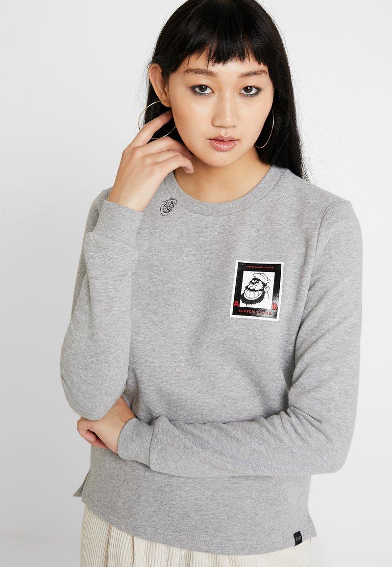 Scotch & Soda - BRUTUS CREW NECK - Sweatshirt - grey